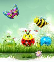 كبير الخنفساء الكرتون الحشرات النحل الحلزون الشكل الألومنيوم فيلم بالون عيد ميلاد حزب تخطيط غرفة الديكور