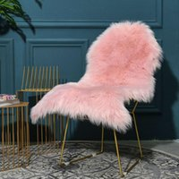 Carpets Irregular Soft Faux Sheepskin Fur Chair Couch Cover Seat Pad White Area Rug For Bedroom Floor Sofa Living Room Tatami Mats