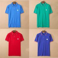 designer mens monclair polo shirts fashion women Embroidery logo Business short sleeve tshirt