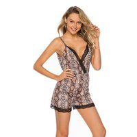 Women's Jumpsuits & Rompers Sexy Deep V-neck Playsuit Women Leopard Print Sleeveless Bodysuit Romper Summer Beach Backless Playsuits Female