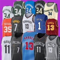 7 Kevin 11 Kyrie 34 Giannis Irving AntetokounMPO Durant 13 Harden NCAA Männer Basketball-Trikots Z9