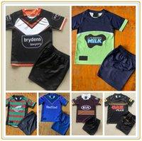 Kids Kit 2021 2022 регби трикотажные изделия Мельбурн Бронкос Западный тигр Кролик леопард дома подальше от мальчиков Джерси набор детей детский костюм 21 22 Высочайшее качество 16-26