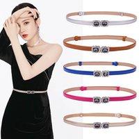 Cinturones para niños Suspensores para niños Accesorios para niñas Diamante Flor dulce delgado Abdominal Cinturón de cuero B7125