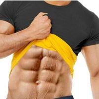 Men's Body Shapers Natural Weight-Loss Neoprene Detox Workout T-Shirt Men Sweat More Fat Burning Waist Trainer Shaper