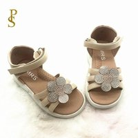 Girls' Shoes With Lovely Flowers Children' s Sandal...