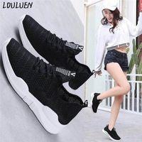 Çizmeler Loulluen 2021 kadın Bayanlar Rahat Kaymaz Spor Yürüyüş Sneakers Koşu Yumuşak Ayakkabı Hediye Roma Laarzen Bottes Mujer