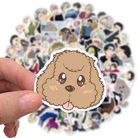 50 stks / set anime op ijs reliëf poster figuur yuri katsuki victor nikiforov mila babique adesivo voor geschenken snj0
