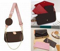 السيدات جونغ حقيبة ماركة فاخرة مصمم الأزياء ثلاثة في واحد سلسلة الكتف الرجعية الكلاسيكية عالية الجودة مربع الأصلي التعبئة والتغليف الهدايا الراقية