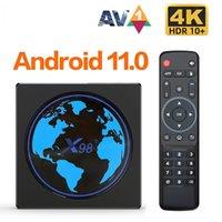 X98Mini Amlogic S905W2 TV Box Android 11 Quad Core 4G 32G 2.4G&5G Dual Wifi 100M 4K 60fps Smart Media Player X98 Mini