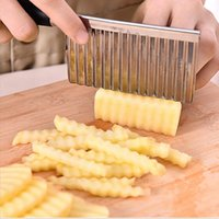 Французский фриковый резак из нержавеющей стали картофель волнистые острые резак нож овощной картофель нож кухонный гаджет инструменты приготовления пищи