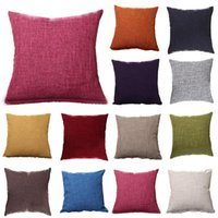 Cushion Decorative Pillow Solid Simple Style Square Cushion Covers Sofa Throw Waist Case Bed Car Bench Decor Living Room Decoration Home