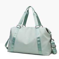 LU-203, mano, bolsa de yoga, mujer, húmeda, impermeable, grande, bolsa de equipaje, bolsa de viaje corta 50 * 28 * 22 de alta calidad con logo de la marca