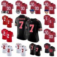 Personalizzato Ohio State Buckeyes Football Jersey 33 Jack Sawyer 3 Quinn Ewers 7 C.J. Stroud 5 Garrett Wilson 1 Justin Fields 27 Eddie George