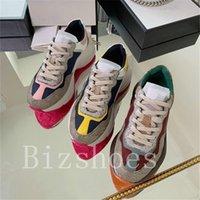 Rhyton Sneaker Reflective Trim Los hombres Zapato de gran tamaño Designer Sneakers Beige Chunky Sole Entrenador Casual Vintage Sienta Mujeres Correr Zapatos