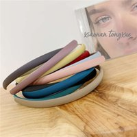 Headband Candy color hairband girl thin edge Satin super fairy French temperament simple sweet blue net red