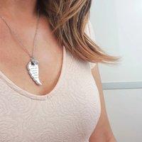 Ängelvingar bokstäver med diamanter blomma halsband kvinnlig ängel vingar halsband