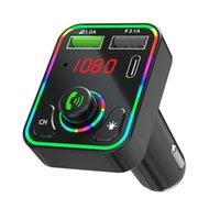 Bluetooth передатчик F3 красочный светодиодный подсветка беспроводной FM-радио адаптер руки бесплатный автомобильный комплект MP3 Player 3.1A USB зарядное устройство