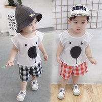 Baby Clothing Sets Boy Suit Boys Outfits Kids Suits Summer Cotton Cartoon Short Sleeve T-shirts Shorts Pants Casual Wear 1-6Y B5208