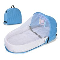 Baby Cribs Portable Cradle For Infant Moses Basket Folding Travel Handbag Style Bed Multifunction Crib With Mosquito Net And Ratt