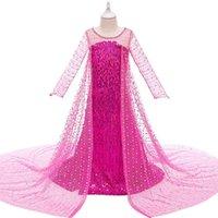Dziewczyna Suknie Śnieg I Lodowa Legenda Gazy Cekiny Księżniczki Dziewczyny Dresy Dress