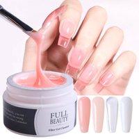 Nail Gel 15ML Builder Art Pink Clear Color Polish For Extension Manicure UV Building Soak Off Varnish