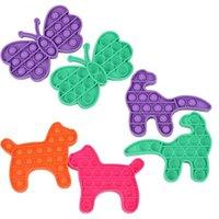 Push Bubble Dog Dragon Butterfly Fidget Toys Autisme Besoins spéciaux Sensorior Anti-Stress Relief jouet Cadeau pour enfants 8 commandes
