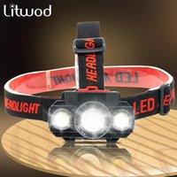 Zoomable COB XP-G Q5 LED-Fischerei-Scheinwerfer Verwenden Sie wiederaufladbare 18650 Batterie-Scheinwerfer-Scheinwerfer-Fackel für Camping-Licht-Scheinwerfer