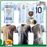 20 21 아르헨티나 Maradona 기념 기념 기념 기념품 축구 유니폼 2021 Messi 200th 기념일 Dybala Aguero Celso Martinez 축구 셔츠 Aldult Men + Kids Retro 1986