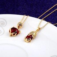 Nuova collana di cristallo di trasbordo rosso collana fcx placcato con oro autentico per attirare la ricchezza