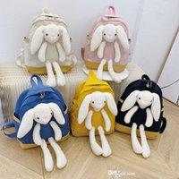 Дети мультипликационные рюкзаки 2021 мода дети кролика кукла рюкзак школьники школьные девочки милые зайчики случайные плечи сумки f563