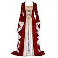 Frauen Urlaub Kleidung Kleid Mittelalterliches Gerichtskleid Diamant Samt zusammen mit großer Hornhülse Diamantflanelette