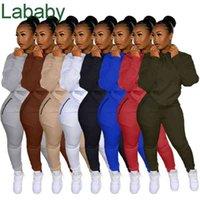 Women Tracksuits Two Pieces Set Designer Solid Colour Fashion Autumn Zipper Sweater Sports Suits Ladies Sportwear 8 Colours