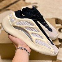 Bayan 700V3 Azael Beyaz Glow Erkek Kanye Ayakkabı Batı Karbon Aydınlık 700 V3 Runner Koşu Spor Sneakers Ayakkabı Boyutu 36-45