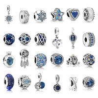 100% 925 Sterling Silver Handmade Lampwork Loose Beads Hanging Bear Fawn Girl Boy Charm Bead Fit Original Pandora Bracelets DIY Jewelry For Women Gift