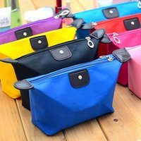 Top Quality Lady Makeup Pouch Impermeable Cosmetic Bag Clutch Kit de viaje Casual Pequeño Polso Candy Sport 10 Colores ZWL273