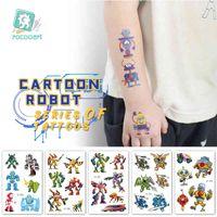 Робот серии водонепроницаемый временные татуировки татуировки наклейки для мальчика и девочки интеллектуальные игрушки мультфильм милые машины мужчины