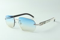 Designer sunglasses 3524024 with mixed buffalo horn arms glasses, Direct sales, size: 18-140mm