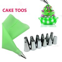 Tools Cake Decorating Tips Set Dessert Decorators Silicone Kitchen Accessories Icing Piping Pink Pastry Bag Stainless Steel Cream Nozzle