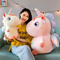 Cartoon Creative Unicorn Catching Machine Doll Cute Girl Heart Down Cotton Soft Animal Pony Home Pillow Baby Couple Birthda 3803