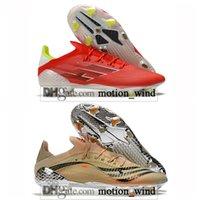 Hediye Çantası Erkek Yüksek Üst Futbol Çizmeler X Speedflow FG Firma Zemin Cleats Ghosted Eğitmenler Erkekler F50 Açık Messi Speedflow.1 Kırmızı Futbol Ayakkabıları