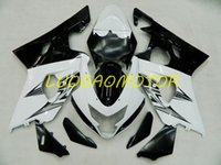 Injetion Custom Fairing kits for SUZUKI GSXR600 750 Cowling GSXR600 Bodywork GSXR 600 Fairings kit White Black ^&GY GSXR 750 K1 K2 K3 01 02 03 Bodywork 2001 2002 2003