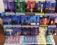 City يمكن التخلص منها السجائر الإلكترونية VAPES 1600 نفث 17 لون بطارية قابلة للشحن السجائر الإلكترونية Vape مصنع المبيعات المباشرة