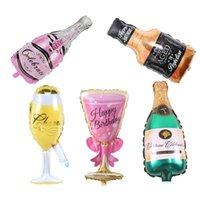 День рождения Свадьба Детская Душ Декор Декор Поставки Чашка Шампанское Пиво Бутылки Воздушный шарики Алюминиевая Фольга Баллончик Hemium Balloon 1083 V2
