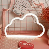 Party Decoration LED Cloud Design Neon Sign Night Light Art Decorative Lights Plastic Wall Lamp For Kids Baby Room Holiday Lighting Xmas