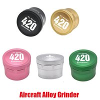 Hot Aircraft Aluminum Alloy Grinder 420 Logo Herb Grinders for Dry Herbal Smoking Tools 4 Parts Layers 63mm Spice Crusher