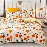 Bedding Sets 100% Brushed Bedding, Four-piece Set, Thick, High-quality Bedroom Supplies, Pastoral Style Quilt Cover, Three-piece Set