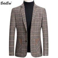 Jacket Men Fit Blazer Fashion Wild Warm Men's High BOLUBAO Suit Print Brand Personality Quality Coat Male Slim Plaid Blaz Hoodies & Sweatshi