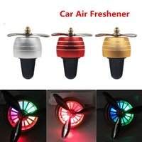 Car Air Freshener Mini Conditioner Fan Portable Auto Smell LED Conditioning Vent