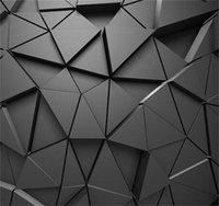Grey Wallpapers 3D Stereo Geométrico Geométrico Abstrato Geométrico Geométrico Wallpapers Fundo Moderno papel de parede para sala de estar 1451 v2