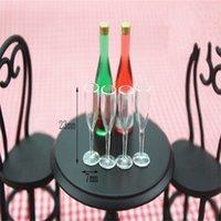 4 pcs 1/12 mini resina transparente copo simulação móveis modelo brinquedos para decoração boneco acessórios miniatura 20styles 1328 y2
